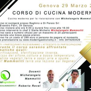Corso di cucina moderna con Michelangelo Mammoliti